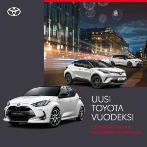Osta nyt uusi Toyota vuodeksi kiinteällä kk-maksulla, ilman käsirahaa!  Kiinteä kk-maksu sisältää:  – uusi Toyota kattavilla var...