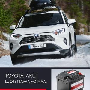 Temppuileeko akku? Aidot Toyota-akut ovat täydellisen yhteensopivia Toyotasi kanssa. Huoltovapaaksi suunniteltu ja kilpailukykyi...