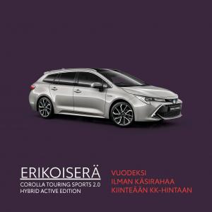 ERIKOISERÄ – Corolla Touring Sports 2.0 Hybrid vuodeksi 349€/kk - O.K. Auto Oy