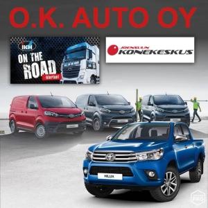 O.K. Auton Joensuun miehet ovat muka IKH on the ROAD- kiertueella. Paikkana Joensuun konekeskus (Pilkontie 2) ke 16.5.2018 klo 10-16 Esittelyssä ovat Toyotan Hybridit sekä Tavara-autoista legendaarinen Hilux ja umpipakettiauto Proace. Tervetuloa!