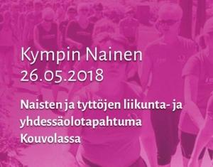 Tule juoksemaan O.K. Auton joukkueeseen! 10 nopeinta ilmoittautujaa mahtuu mukaan juoksemaan O.K. Auton joukkueeseen Kympin nainen tapahtumassa Kouvolassa 26.5.2018. Ilmoittaudu perjantaihin 25.5. mennessä sähköpostilla jani.matilainen@okauto.fi Lisätietoa: http://www.kympinnainen.fi/